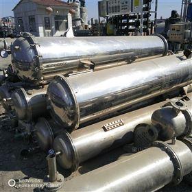 出售二手30平方不锈钢列管式冷凝器