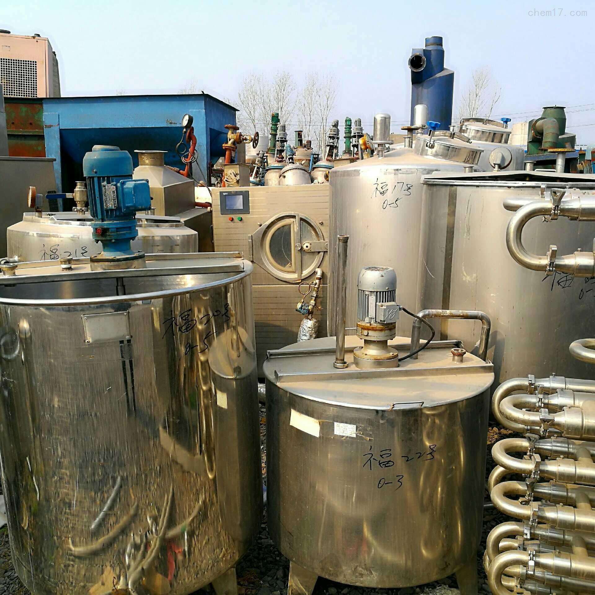 闲置二手30吨不锈钢搅拌罐材质304