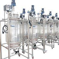 50L达丰 双层搅拌玻璃反应釜 蒸馏釜 蒸馏器