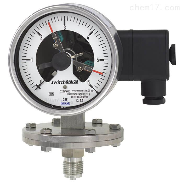 WIKA威卡带开关电接点的膜片式压力表正品