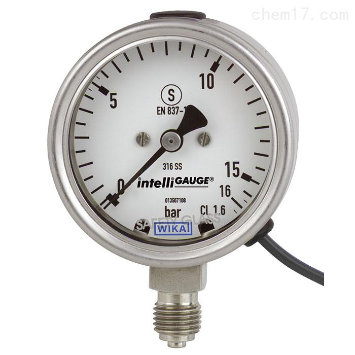 WIKA带电信号输出的波登管压力表PGT23.063