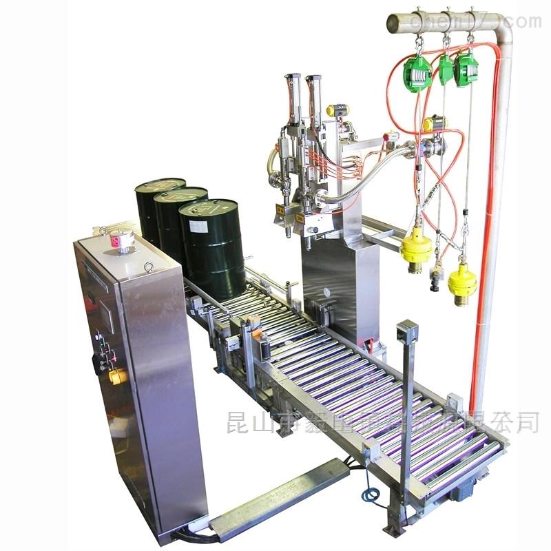 200L半自动液体灌装机 机油称重灌装设备