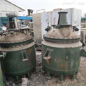 回收二手3吨内置钛盘管钛材反应釜