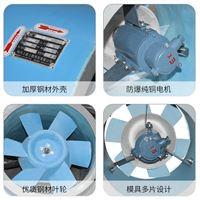 HTF(A)-II-3.5-1.1/0.85Kw玻璃鋼管道風機低噪聲混流式消防排煙風機