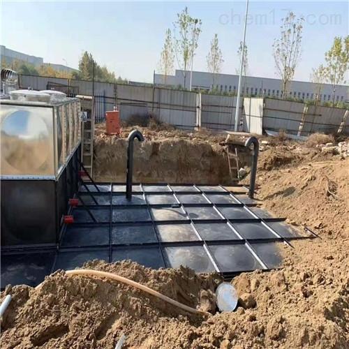 抗浮式地埋消防水池箱的安装全部流程
