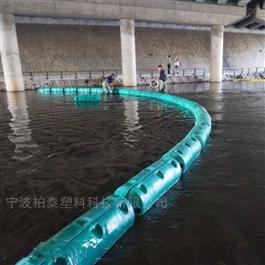 FT300*1000塑料拦污漂排浮筒水下拦截网格可隔离垃圾