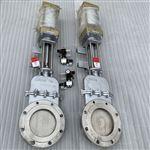 DMZ673W/F插板阀气动暗杆不锈钢刀闸阀带行程开关