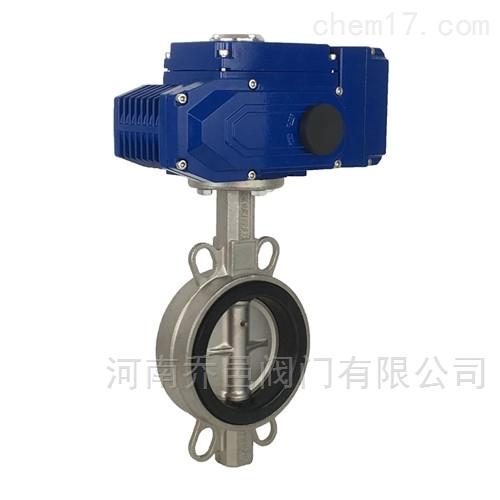 D9Z71F电动调节型四氟不锈钢板蝶阀