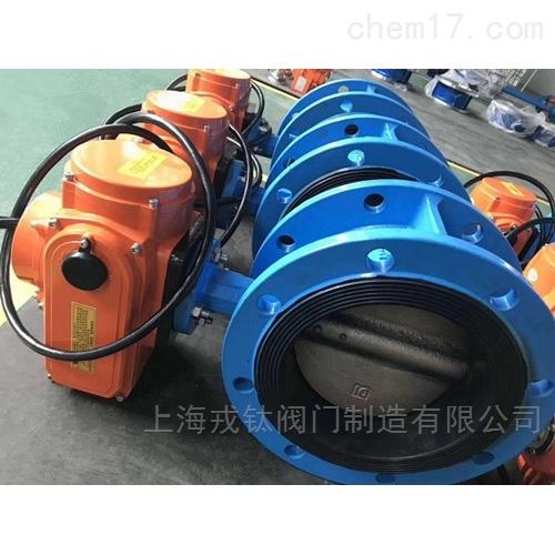 IP68防水电动对夹蝶阀