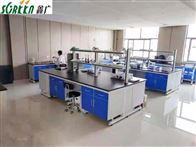 鑫广山东钢木实验台边台,物理实验桌化验室
