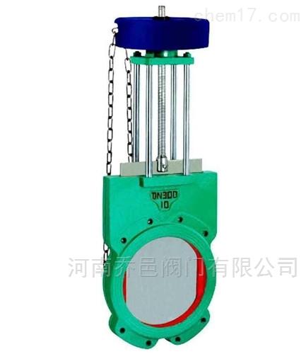 气动带手动对夹式浆液阀