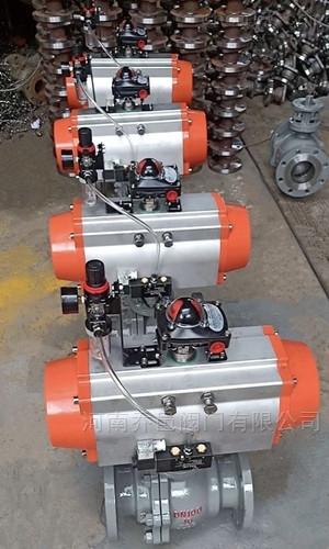 Q647Y气动固定式硬密封耐磨球阀
