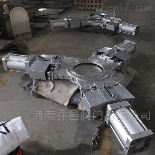 SKPZ673W-10P气动三开式插板阀