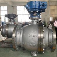 Q347F蜗轮不锈钢固定式球阀