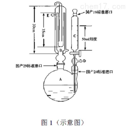 二氧化硫残留量测定玻璃装置