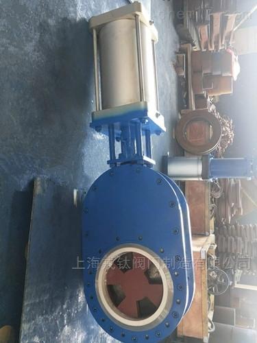 气动陶瓷双闸板进料阀