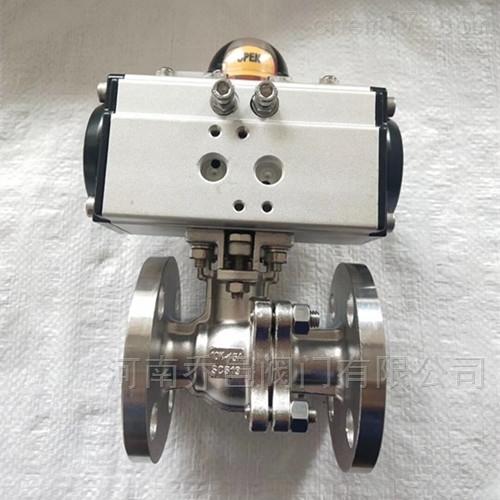 气动日标调节型球阀 气动带手动日标球阀