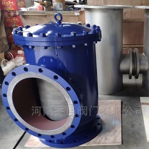 泵前吸入式扩散式除污器 导流直角式除污过滤器 直角式扩容式过滤器