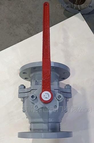 化工部标准碳钢法兰球阀