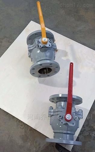 化工部标准不锈钢法兰球阀