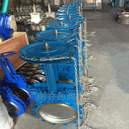 不锈钢链轮式刀形闸阀