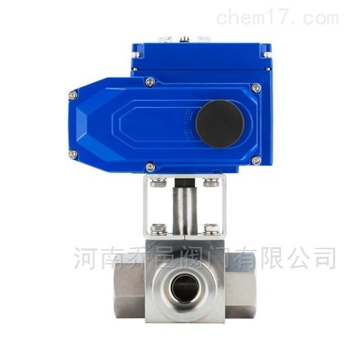 Q914F电动高压三通L型球阀