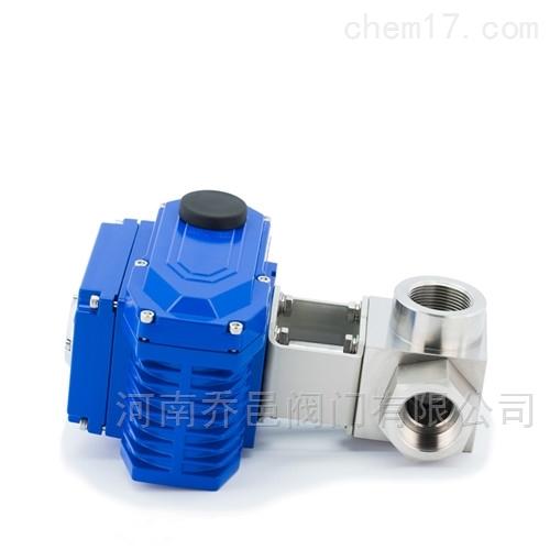 电动高压丝扣三通球阀 电动高压内螺纹不锈钢三通球阀