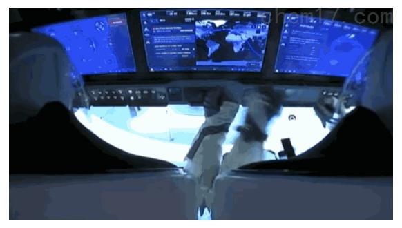 宇航员工作画面