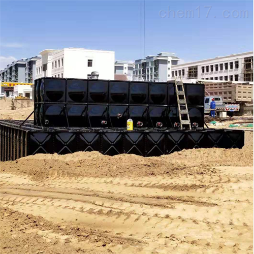 单元矩形地埋箱泵一体化消防泵站