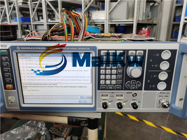 信號發生器SMW200A維修案例