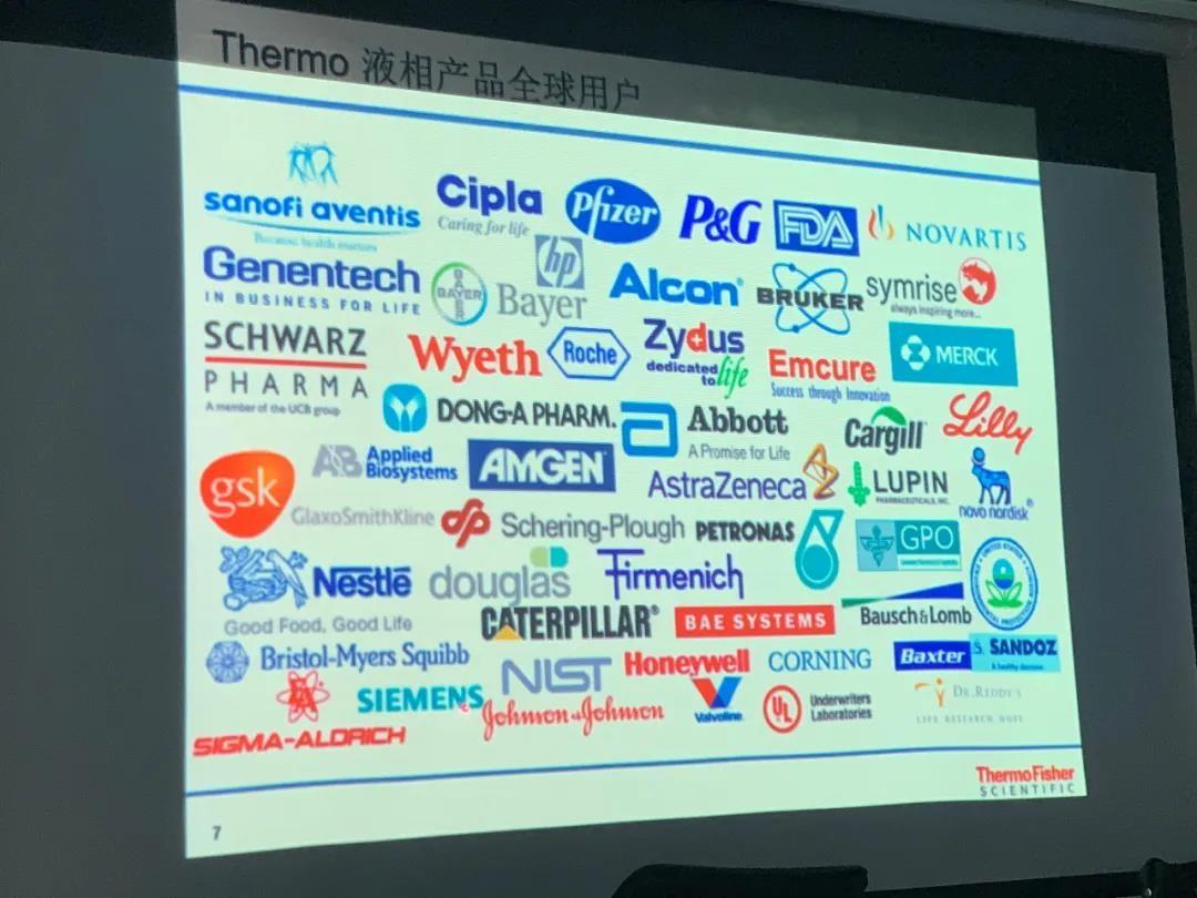 赛默飞液相色谱全球用户图