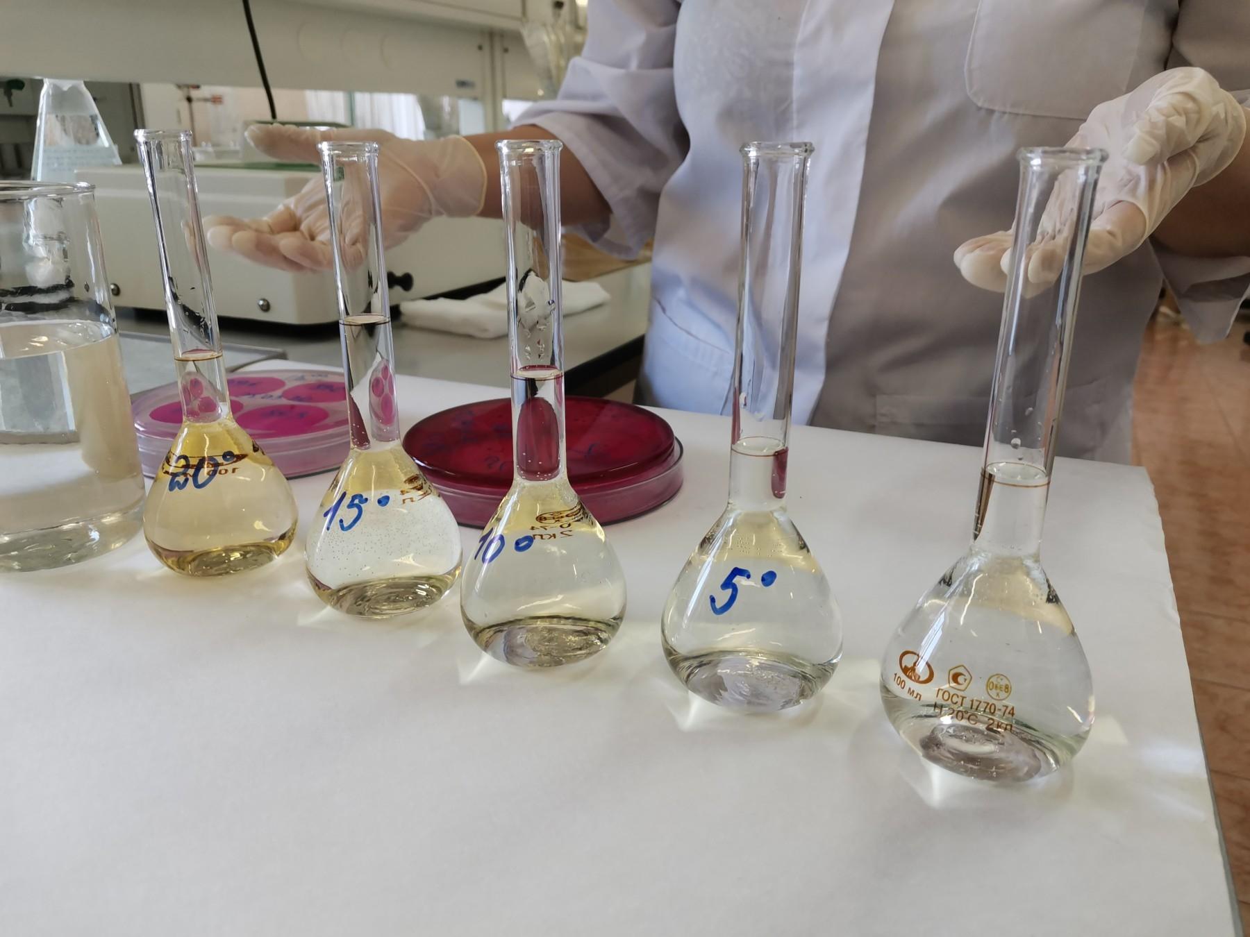 将配制好的水质检测溶液分类贮存