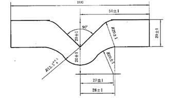 图3 埃莱门多夫法试样的两种形状
