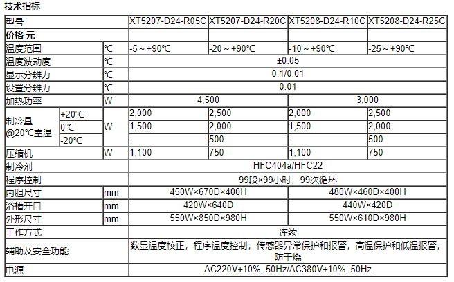 恒温水槽技术参数