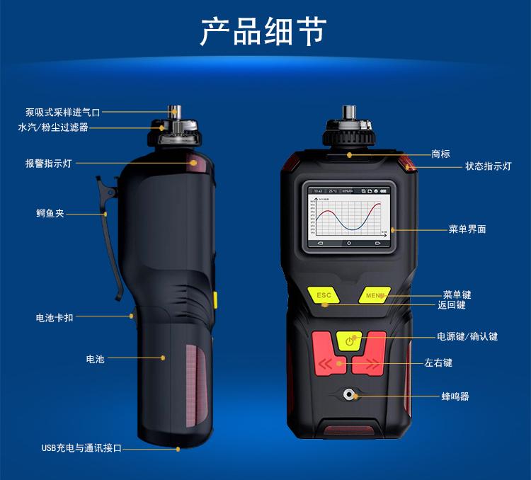<strong>手持式泵吸型非甲烷总烃C2-C12气体检测仪</strong>